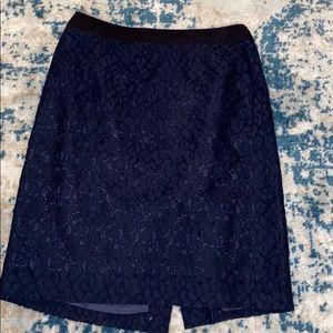 J Crew heirloom lace pencil skirt